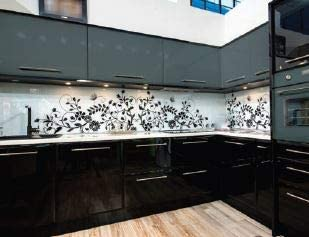 Amazon Com Acrylic Black Kitchen Cabinets 10 X Furniture Decor