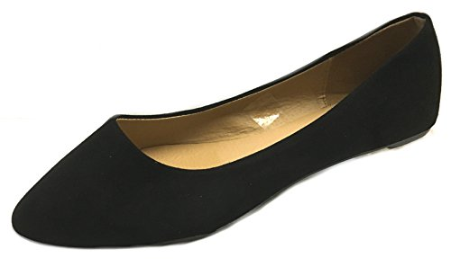 Shoes8teen Womens Faux Suede Loafer Smoking Shoes Flats 3 Colors 8800 Black Micro 9MWaGJXF
