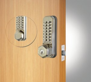 Codelocks CL290K Tubular Latch Back to Back with Key Override- Stainless Steel-New