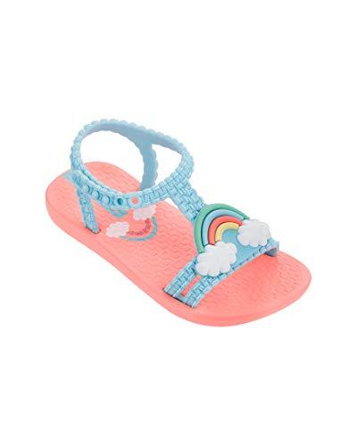 Ipanema Girls' Rainbow Baby Flip-Flop Pink/Blue 6 M US Toddler -