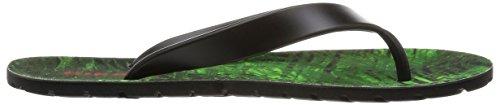 Diesel Heren Splish Plaja Zwart / Groen Flash Fashion Slippers Sandalen Schoenen