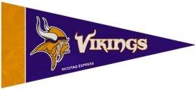(Rico Industries NFL Minnesota Vikings Pennant Mini (8 Piece), One Size, Team Color, Team Colors)