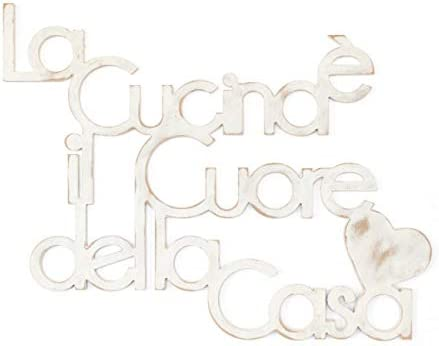 Decorazione legno BONJOUR Scritta frase decorativa in legno Arredo Legno Parete