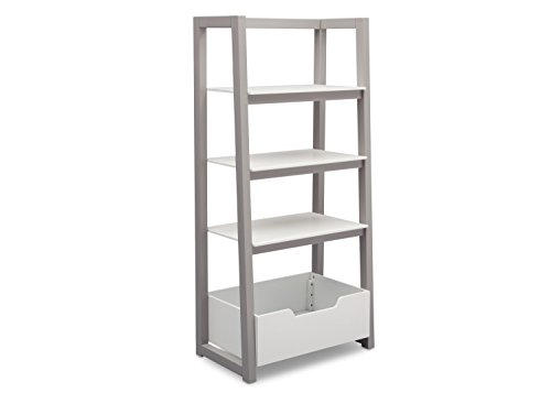 - Delta Children Ladder Shelf, White/Grey