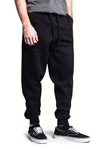 G-Style USA Premium Cotton Blend Loose Fit Fleece Sweatpants - MJ13121 - Black - Medium ()