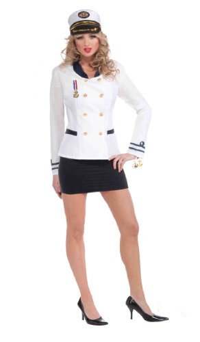 Navy Officer Costumes (Forum Navy Officers Jacket, White, One Size Costume)