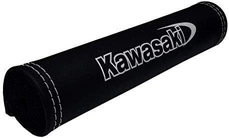 Lenkerpolster f/ür Kawasaki Modelle Silber Logo