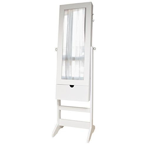 New View Floor, Wall, & Over-the-Door White Jewelry Cabinet by NEW VIEW