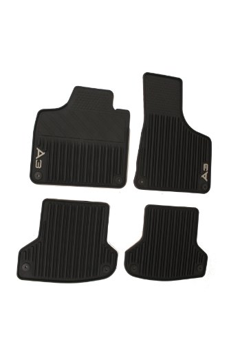 Genuine Audi Accessories 8P1061450041 Black Rubber Front and Rear All Weather Floor Mat for Audi A3, (Set of 4) (Nature Car Floor Mats compare prices)