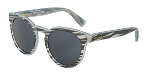 Dolce&Gabbana DG4285F Sunglasses 305187-53 - Striped Azure Frame, Grey