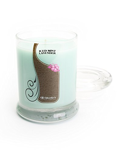 Iced Mint Lavender Candle - Small Mint 6.5 Oz. Highly Scented Jar Candle - Made with Essential & Natural Oils - Fresh & Clean Collection