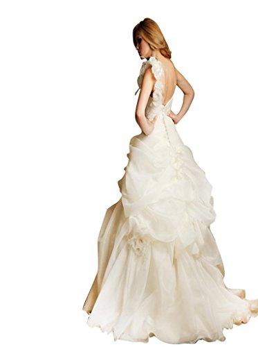 Schulter Schleppe Damen Drapiert Ballkleid Organza 1 Weiß Rüsche Hof Handgemachte Blumen Mit Kleidungen Dearta qwpUTp