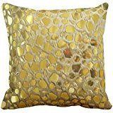 Chunk Bling - Gold Nugget Chunks Bling Print Throw Pillow Case