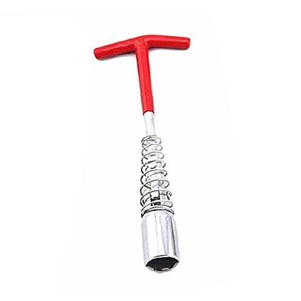 Llave de bujía, enchufe universal para bujía, llave de bujía, 16 mm,