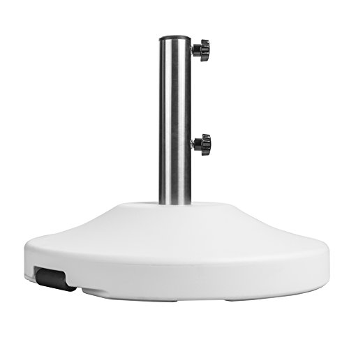 US Weight 80 Pound Free Standing Umbrella Base - White