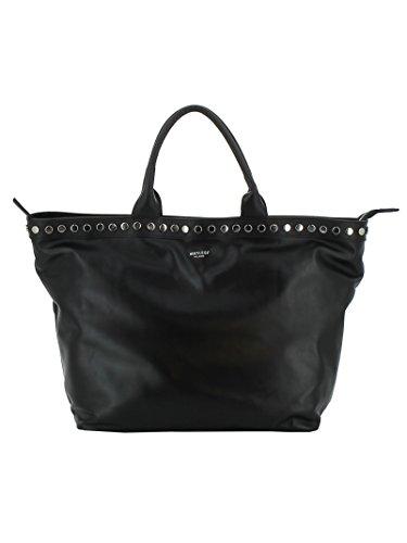 Avenue Leather Tote - AVENUE 67 WOMEN'S JANEBLACK BLACK LEATHER TOTE