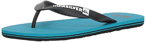 Quiksilver Men's Molokai Sandal, Black/Blue/Blue, 12 M US by Quiksilver