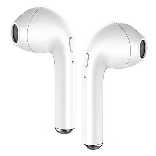 Bluetooth Headphones, bonsalay Wireless Headphones Mini Wireless Sports Earphones Stereo Earbuds Sweatproof Headsets-white07