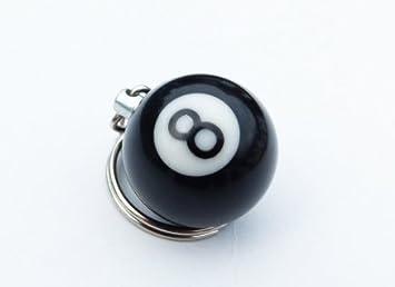 Aisy Ice - Llavero bola negra número 8 de billar: Amazon.es: Coche y moto