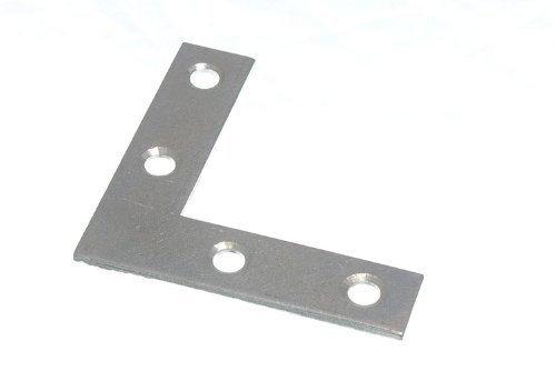 FLAT CORNER BRACE BRACKET 63MM X 13MM X 2MM 5MM HOLE BZP ( pack 25 ) by ONESTOPDIY.COM