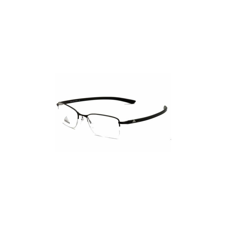 Adidas Eyeglasses A695 A/695 6053 Matte Black Semi Rim Optical Frame 54mm
