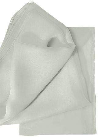 Foulards en soie Chiffon 4,5 180 x 45 cm Blanc