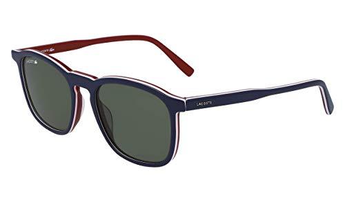 Lacoste L901s Rectangular Sunglasses, Blue/White/Green, 52.18 -