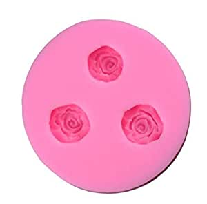 Silicone Mini Cake Molds for Baking Cake Decorating Fondant with Rose Flower Diy Mold Kitchen Tools Pink Color