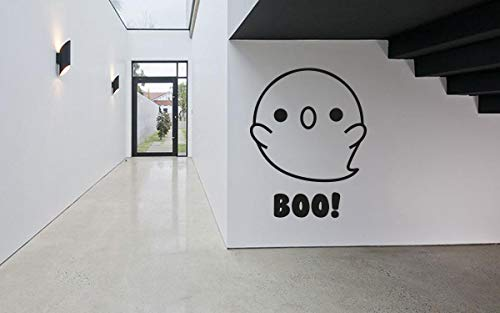 Vinyl Sticker Ghost Cute Boo Halloween Spooky Kids Room Mural Decal Wall Art Decor EH1305]()