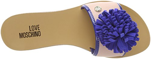 20 Sabotd pu Multicolore Ciabatte Pink Bo Moschino Love bluette Rs BT VR 2154418 pu Donna qaAwxtR