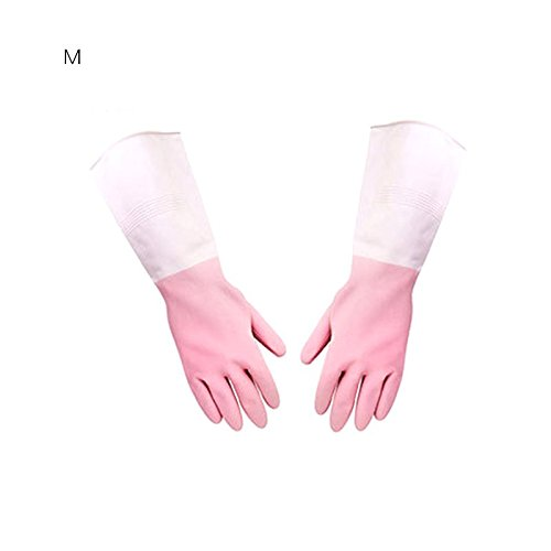 Blue Stones 1 Pair Household Long Waterproof Dishwashing Gloves Glove For Washing Bowl Clothes Waterproof Dishwashing Gloves Kitchen Tools