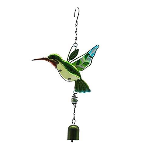 Hummingbird Wind Chimes Glass Painted Ornaments Metal Wind Chime Tube Aluminum Tube