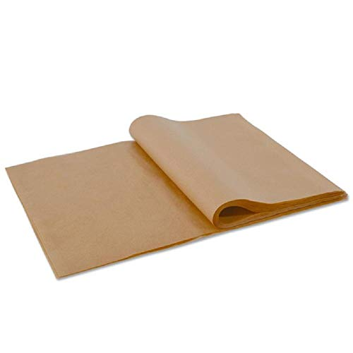 100pcs Unbleached Parchment Paper Baking Liners Sheets, Precut 12