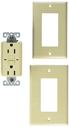 Royal Pacific 9214IV-L GFCI 15 Amp Ground Fault Circuit Interrupter, Ivory with Green LED Indicator Light