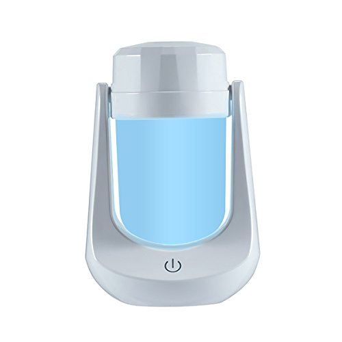 WINOMO USB Mini Humidifier, Cool Mist Essential Oil Diffuser Air Purifier Humidifier with 7 Color Changing LED, Ultra-quiet, Perfect Portable Solution for Home, Office, Car, Yoga (White-Type A)
