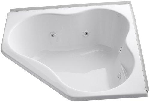 Kohler K-1154-FH-0 Corner Whirlpool, White