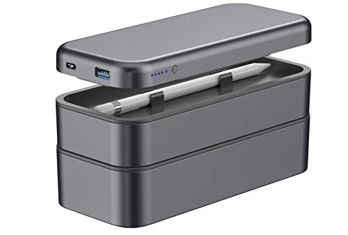 - Function 101 BentoStack Charge Accessory Travel Case and Desktop Organizer with Qi Wireless Charging Cover and Power Bank, Compatible with Apple Products. Fits USA Style Wall Chargers {Space Gray}
