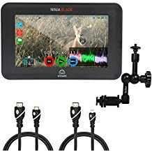 Atomos Ninja Blade 5'' HDMI On-Camera Monitor & Recorder, 7'' Articulating Magic Arm, Jumbl High-Speed HDMI to Micro HDMI (Type D) and Jumbl High-Speed HDMI-A to Mini HDMI-C Cable by Calumet