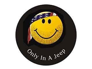 2012 - 2012 Jeep Wrangler - Funda para rueda de repuesto paño - cara sonriente w/Bandana, Jeep Logo por Mopar: Amazon.es: Coche y moto