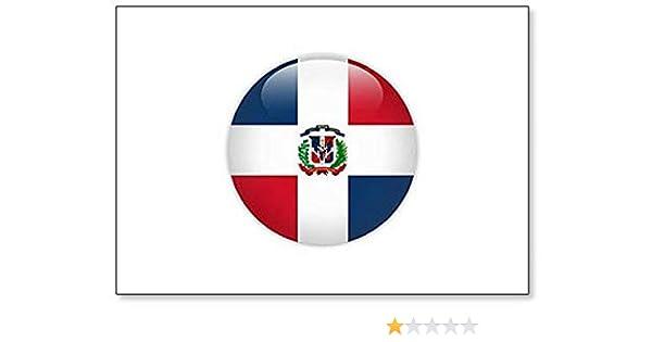 Imán para nevera, diseño de bandera de República Dominicana: Amazon.es: Hogar