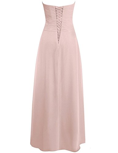 Bridesmaid Long Champagne Sweetheart Prom Chiffon Gown Womens Anlin Dresses Pleated Evening HYqaPUx