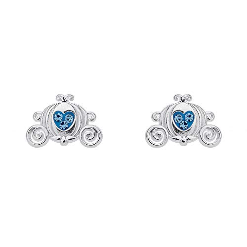 Disney Princess Cinderella Carriage Crystal Stud Earrings (Carriage Disney Cinderella)