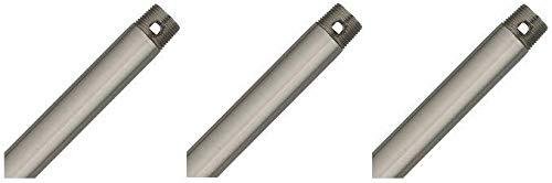 Hunter 26023 48-Inch Downrod, Brushed Nickel (3-(Pack))