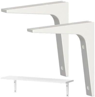 3 x IKEA soporte para estante, pack de 2, color blanco ...