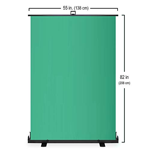 KHOMO GEAR Jumbo Size 55'' x 82'' Green Screen Collapsible Pull-Up Extra Large Streaming Portable Backdrop Setup with Auto-Locking Frame by KHOMO GEAR (Image #4)