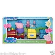Peppa Pig sur train de Papy Pig Cochons train