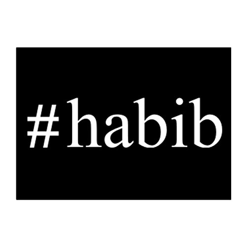 teeburon-habib-hashtag-pack-of-4-stickers