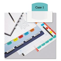 ** Laser Printable Index Tabs, 1 1/8 Inch, Five Colors, 100/Pack