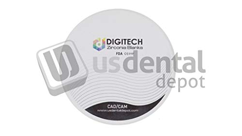DIGITECH - HS Dental Zirconia Block 98.5mm (98mm) x 12mm - 1 Block per Box - [ Discs pucs Blanks Block bloques ] 111119