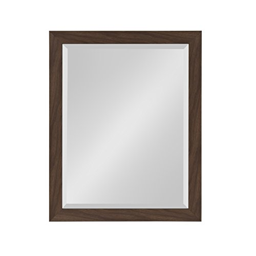 ce Framed Decorative Rectangle Wall Mirror, 21 x 27, Walnut Brown ()